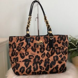 COACH Ocelot Leopard/Animal Print Shoulder Bag